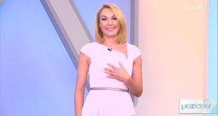 Η αγχωμένη πρεμιέρα της Τατιάνας Στεφανίδου στον ΣΚΑΪ – Πώς καλημέρισε του τηλεθεατές ντυμένη στα λευκά (VIDEO)