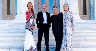 Υπέρλαμπρη η Νικολέττα Καρρά με ρούχα του οίκου Τρανούλη στην απονομή των Κορφιάτικων Θεατρικών Βραβείων